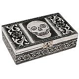 HAB & GUT -BOX011V- Schmuckbox aus Aluminium, Totenkopf, 20 x 12 x 6 cm