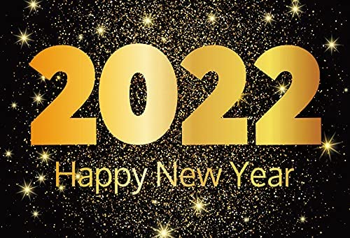 Baocicco 5x3ft Happy Super Special SALE held New Year 2022 S Backdrop Photo safety Shiny Golden