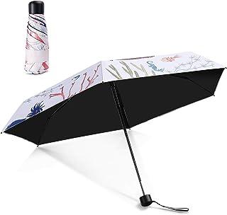 日傘 超軽量 折りたたみ傘 HEIRBLS 折り畳み日傘 UVカット率99% 完全遮光 遮熱 手動開閉 晴雨兼用 小型 携帯しやす 収納ケース付き (550301,550701)
