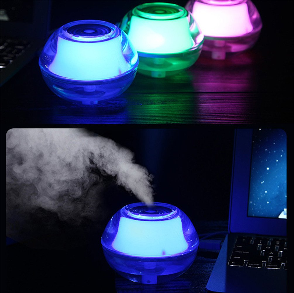 Humidifier for Allergies, Nasal Congestion, Nose Bleeds, Dry Sinuses, Sinusitis, Sinus Infection by TJUAN Mini Portable Humidifiers with Night Light,