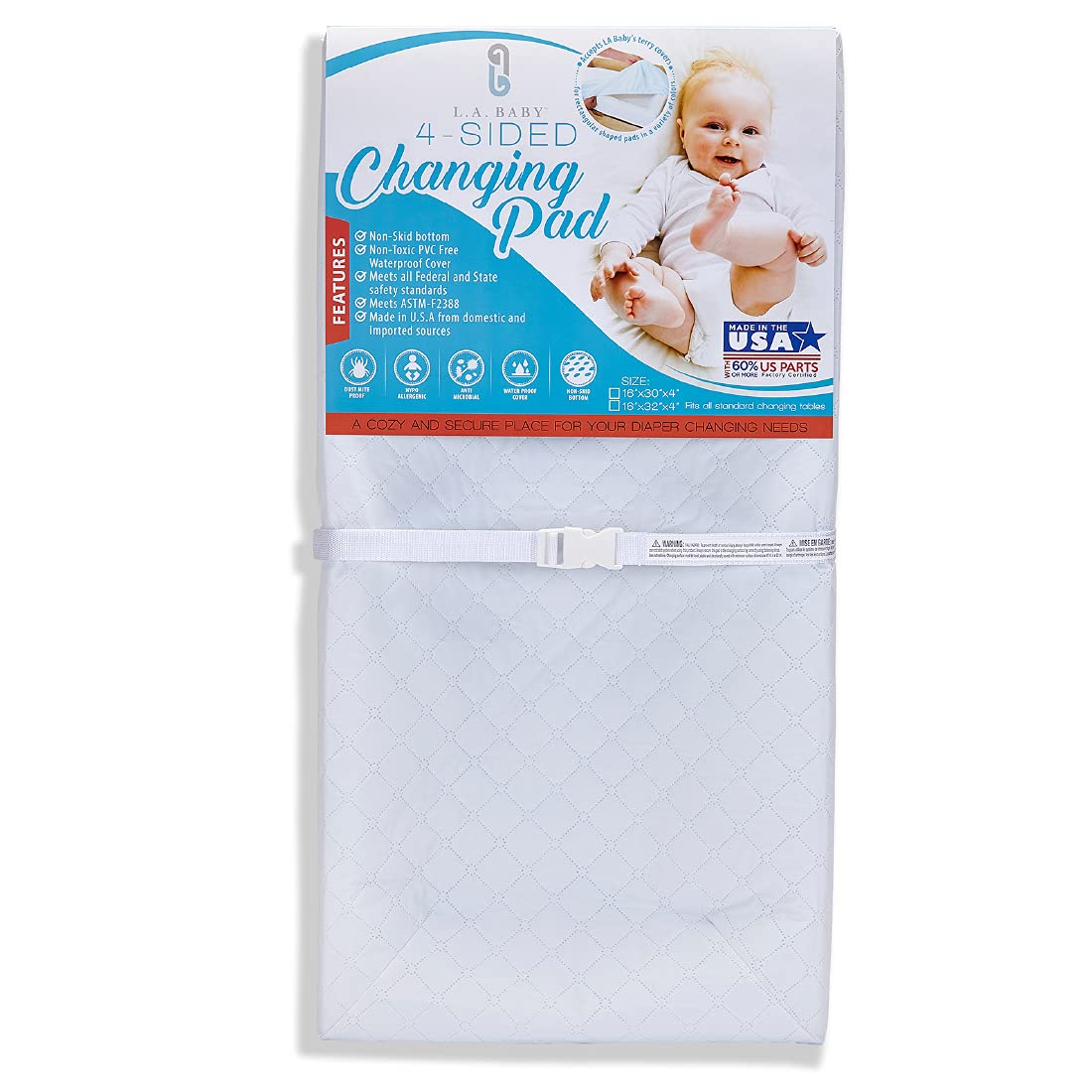 LA Large special price !! Ranking TOP6 Baby 4-Sided Waterproof Diaper Changing to Pad with 32