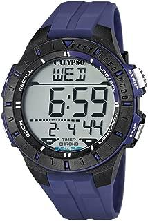 Calypso K5607/2 - Reloj de caballero de cuarzo, correa de caucho color azul