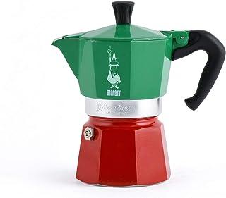 Bialetti - Moka Express colección Italia (Tricolor), cafetera de 3 Tazas, Aluminio
