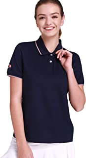 CAMEL CROWN Womens Cotton Golf Polo Shirts Short Sleeve Plain t Shirts Sport Apparel
