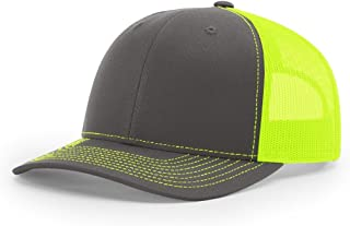 Charcoal/Neon Yellow 112 Mesh Back Trucker Cap Snapback Hat w/THP No Sweat Headliner