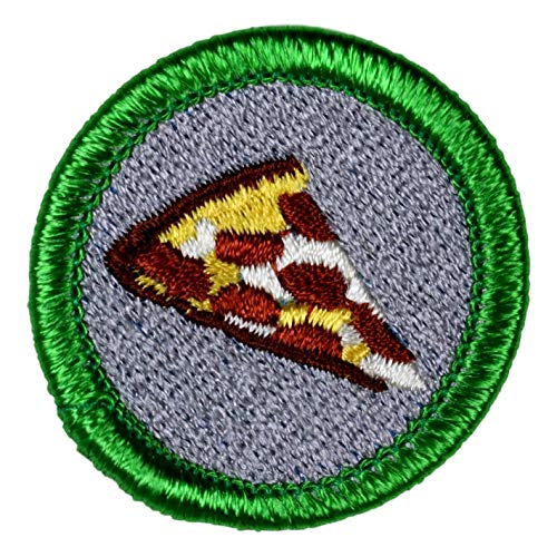 Pizza Novelty Merit Badge - 1.5' Embroidered Patch with Adhesive Backing