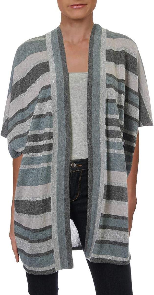 St. John Womens Shimmer Stripe Cardigan Sweater