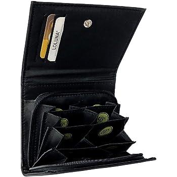 Porte Monnaie trieur Euro LIVAN monnayeur Noir Fermeture /éclaire en Nylon 3 emplacements Cartes cr/édit Femme Homme 8 Compartiments Monnaie