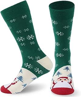 Christmas Novelty Socks, Holiday Gift Cartoon Crew Socks for Women and Men, 1/2 Pack