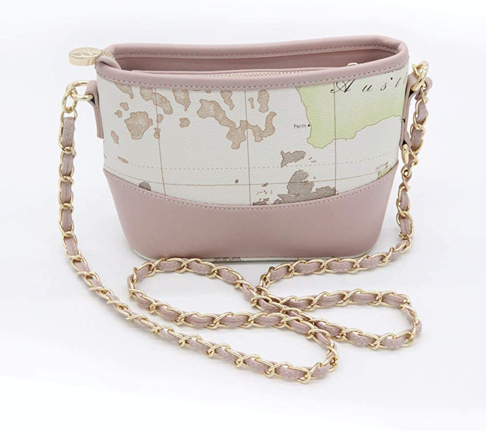 Fashion Bags for Women Map Design Chain Strap Crossbody Bags Ladies Hobo Bags
