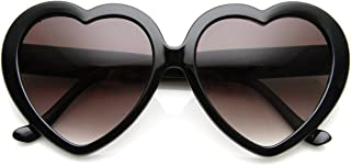 Large Oversized Womens Heart Shaped Sunglasses Cute Love Fashion Eyewear
