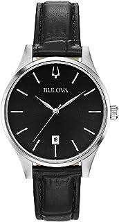 Bulova - Reloj Analógico para Mujer de Cuarzo con Correa en Cuero 96M147