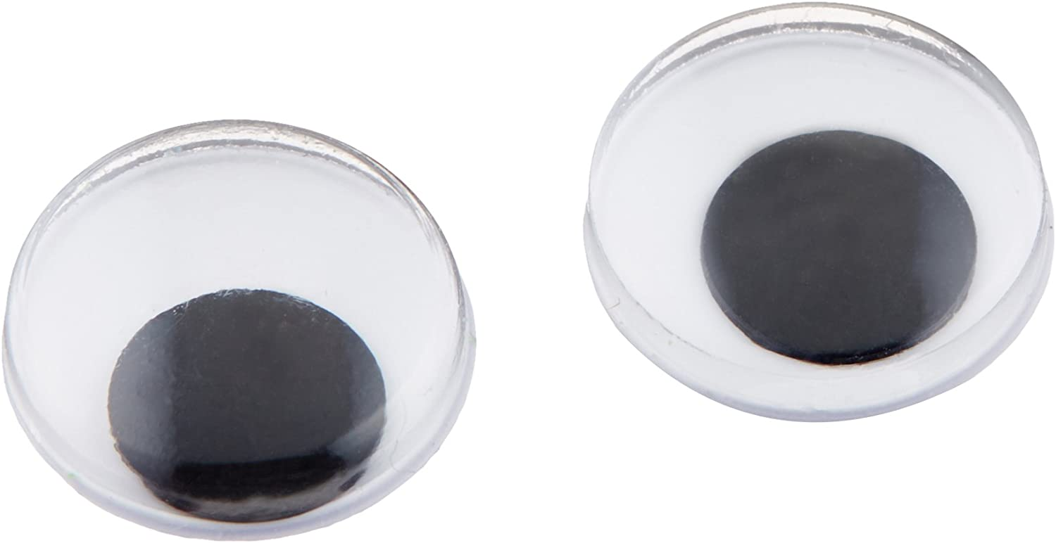 Darice 2021 model 5112 Paste On Wiggle All items free shipping Pkg-Black Eyes 118 12mm
