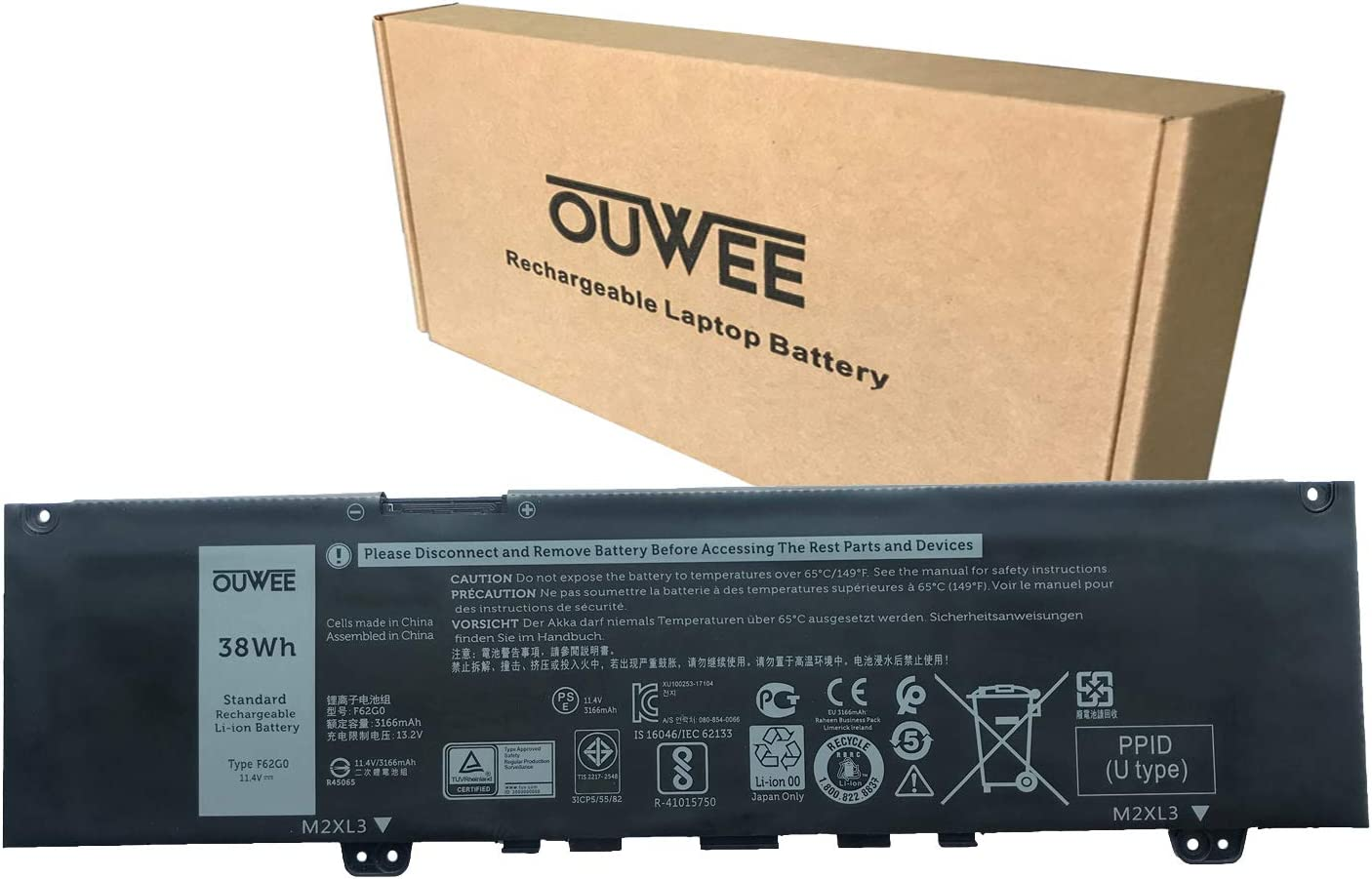 OUWEE F62G0 Laptop Battery Compatible Inspiron Dell 5370 25% OFF 73 with Direct sale of manufacturer