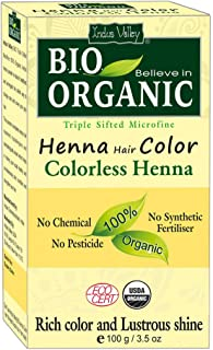 Indus Valley 100% Organic And Natural Colorless Henna Hair Color For Shiny & Smooth Hairs