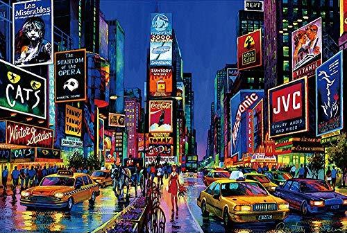 FDDPT Puzzle 1000 Piezas Times Square Nueva York Rompecabezas