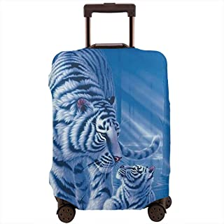 Valise De Protection pour Housse De Protection Basketball Design Home Elastic Dustproof Travel Trolley Valise Baggage Protector Case 26-28 Pouce L