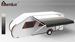 Awnlux Replacement Fabric for Dometic 14 Feet RV Trailer Canopy Awning with Installation Tools (Fabric Size 13 Feet 2 Inch), Black Fade Color