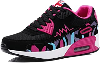 PADGENE Femme Baskets Mode Chaussures Sport Course Sneakers Fitness Gym athlétique Multisports Outdoor Casual