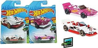 Hot Wheels 2019 HW Speed Blur 3/10 Track Manga 86/250 Bundle - Pink + White - 2 car Set