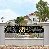 Large Happy 85th Birthday Banner, Cheers & Beers to 85 Years,Birthday Hanging Banner, Birthday Party Decoration Supplies, Celebration Flag(9.8 x 1.6 ft)