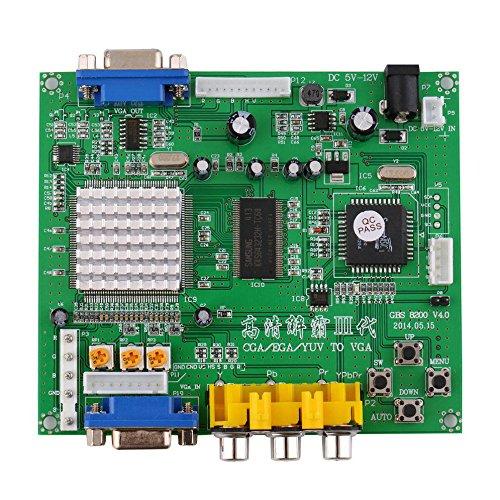 Atomic Market RGB/CGA/EGA/YUV to VGA HD Video Converter Board HD9800/GBS8200 for Arcade Green