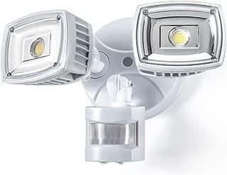 Home Zone ES00730V Security LED Motion Sensor Flood Lights, Outdoor Weatherproof Ultra Bright 5000K, White