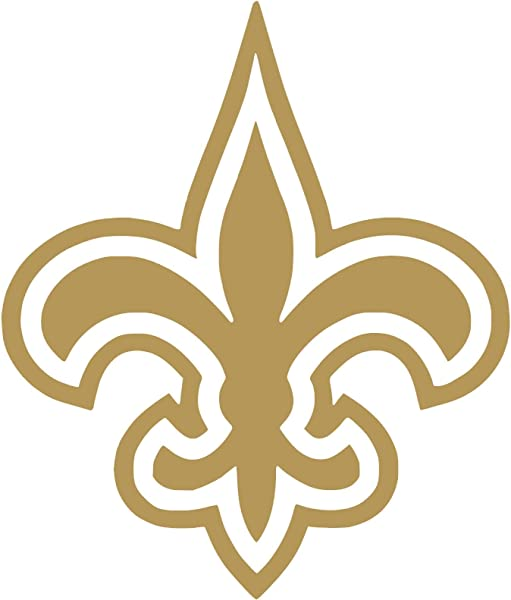 New Orleans Saints Vinyl Sticker Decals For Car Bumper Window MacBook Pro Laptop IPad IPhone 4 X 3 4 Gold
