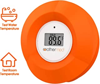MotherMed Baby Bath Thermometer and Floating Bath Toy Bathtub and Swimming Pool Thermometer Red Flower