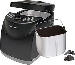 Hamilton Beach Bread Maker Machine 2 Lb Capacity Digital, Programmable, 12 Settings + Gluten Free, Dishwasher Safe Pan + 2...