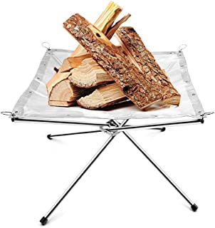 Outdoor Portable Fire Pit Camping Wood holder Rack with a Free Carry Bag