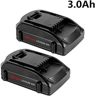 3.0Ah WA3525 Replacement for Worx 20V Battery Li-ion WG151S WG155S WG251S WG255S WG540S WG545S WG890 WG891 Cordless Tools Battery 2-Pack