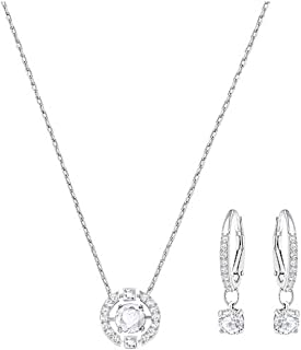 Swarovski Sparkling Dance Round Set, Necklace, Earrings, White 5279018, 14 7/8 in