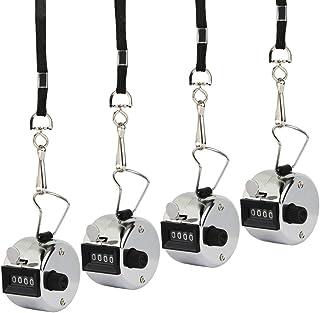 数取器 MEZOOM 4個セット カウンター カウント 手持型 4桁 数取り器 シンワ測定 入場者 交通量 野鳥の会 計数 シルバー 小型 手掌用