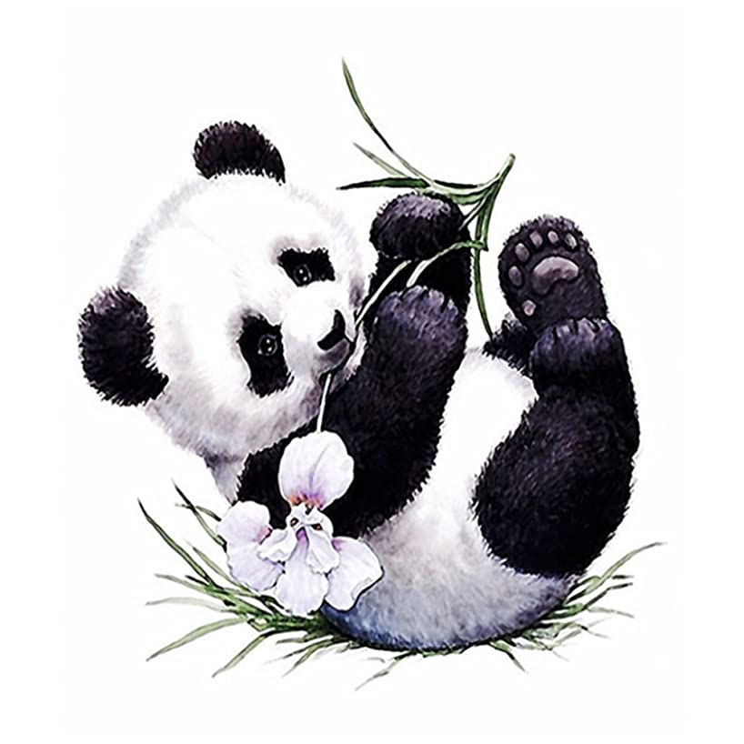 DIY 5D Diamond Painting,by Number Kits Crafts & Sewing Cross Stitch,Wall Stickers for Living Room Decoration,Cute Panda(30X40CM/12X16inch)