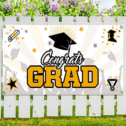 "Graduation Party Banner, Extra Large 78.8""x40.3"" for 2021 Graduation Party Supplies - Booth Backdrop/Photo Prop, 2021 Graduation Decorations Indoor/Outdoor for Home & School"