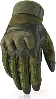 HobbyAnt Touch Screen Military Tactical Airsoft Full Finger Gloves Hard Knuckle Outdoor 3 Colors - Size S Color Black