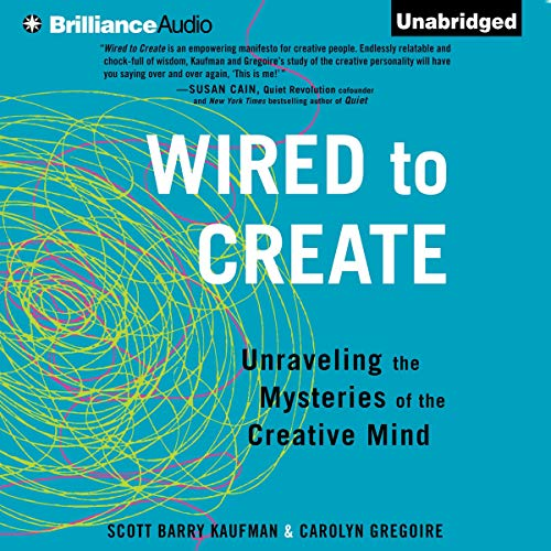 Wired to Create audiobook cover art