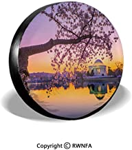Spare Tire Cover,Jefferson Memorial in Spring,for Jeep,Trailer, RV, SUV and Many Vehicle 14