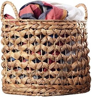 CCLLA Panier à Linge, Panier de Rangement Boîte de Rangement Panier à vêtements Panier à provisions tissé à la Main pour J...