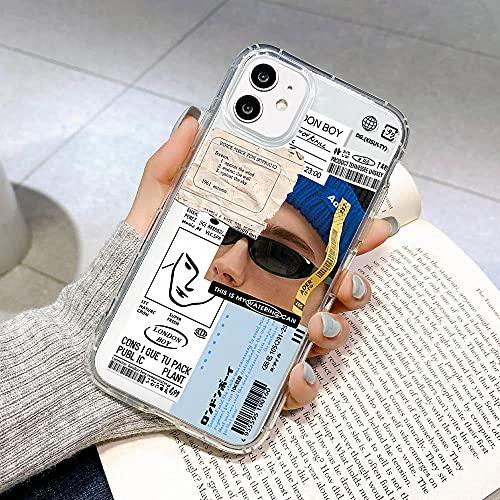 Funda Airbag para iPhone 11 iPhone 12 Pro MAX Fundas Funda de Silicona a Prueba de Golpes Funda iPhone XR 7 8 6 6s Plus X XS Se 2020 Mini Coque-For_iPhone_7_8_U125