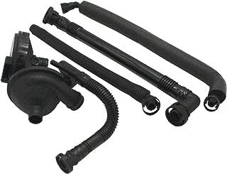 TAKPART PCV Crankcase Vent Valve & Breather Hose Kit 11617504535/11617504536 /11611432559 Compatible for BMW E46 325i 330i 325Xi 330Xi