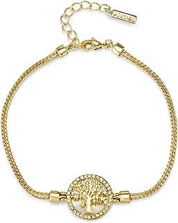 سوار مرصع مطلي بالذهب بحجر شجرة القيقب للنساءMSBR3327 من ميستيج