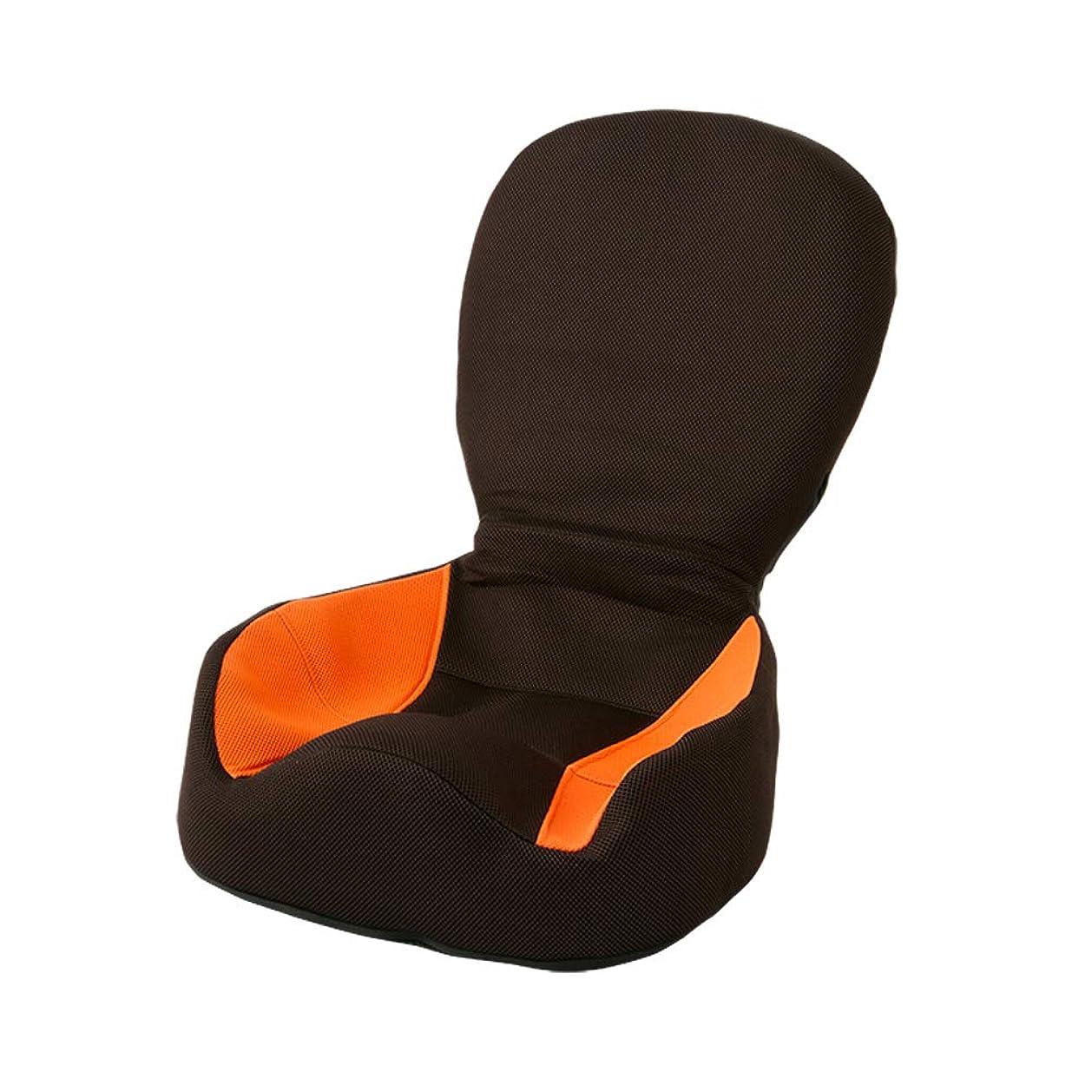 インタネットを見る前兆開示する座椅子 座いす ストレッチ リクライニング 背中 背筋 腰 姿勢 猫背 骨盤 チェア 読書 ゲーム (オレンジ)