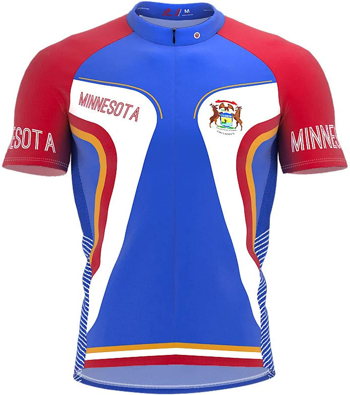 ScudoPro Minnesota Bike Short Sleeve Cycling Jersey for Men