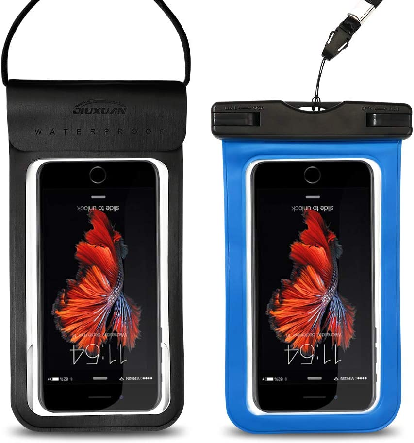 Waterproof Phone Pouch, Universal Waterproof Case Underwater Dry Bag Compatible for iPhone XR XS X 8 7 6S Plus, Samsung S10e S9 S8 Note 9 8 6 Pixel 2 3 XL HTC LG 5