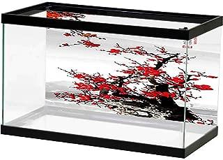 bybyhome Aquarium Background Sticker Sea Bridge 3D One Side Fish Tank