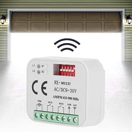Duokon - Receptor de Control Remoto para Puerta de Garaje de plástico Universal SMG-662MRX BFT Sommer 300-900 MHz
