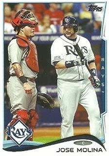 2014 Topps Update Variations #US-6b Jose Molina White Jersey MLB Baseball Card (SP - Short Print) NM-MT