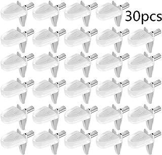 30PCS Soporte para Estante de Cristal, Escuadra de Soporte Aleación para Estante de Madera o Cristal Soporta en Forma de L para Mueble Armario Biblioteca (agujeros de montaje de 3 mm)